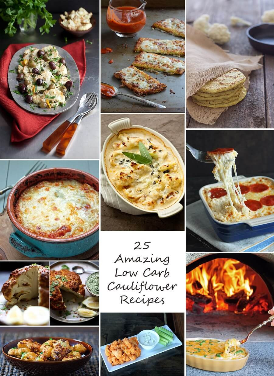 Low Carb Recipes With Cauliflower  25 Amazing Low Carb and Gluten Free Cauliflower Recipes