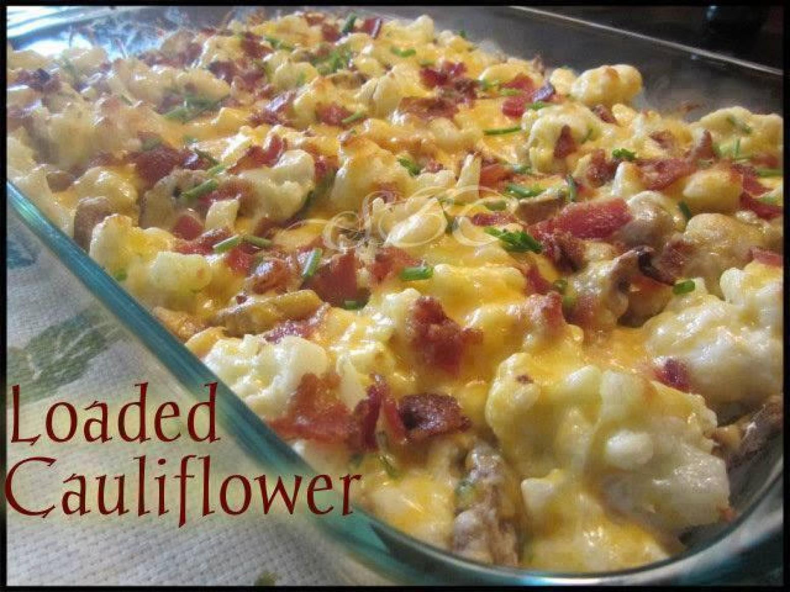 Low Carb Recipes With Cauliflower  Loaded Cauliflower and it s low carb Recipe