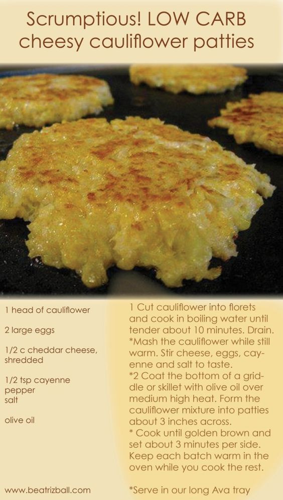 Low Carb Recipes With Cauliflower  Cheesy cauliflower Low carb recipes and Cauliflowers on