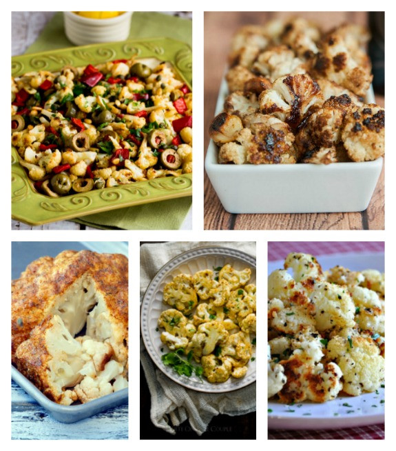 Low Carb Recipes With Cauliflower  Kalyn s Kitchen Low Carb Recipe Love on Fridays Roasted
