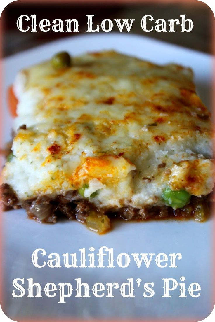Low Carb Recipes With Cauliflower  724 best Low carb recipes images on Pinterest