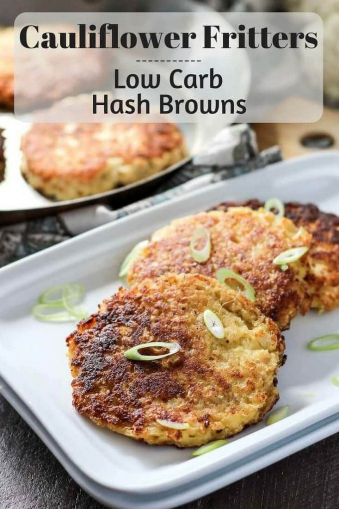 Low Carb Recipes With Cauliflower  low carb cauliflower fritters
