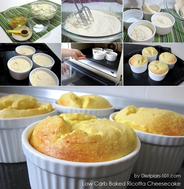 Low Carb Recipes With Ricotta Cheese  Low Carb Baked Ricotta Cheesecake South Beach Phase 1