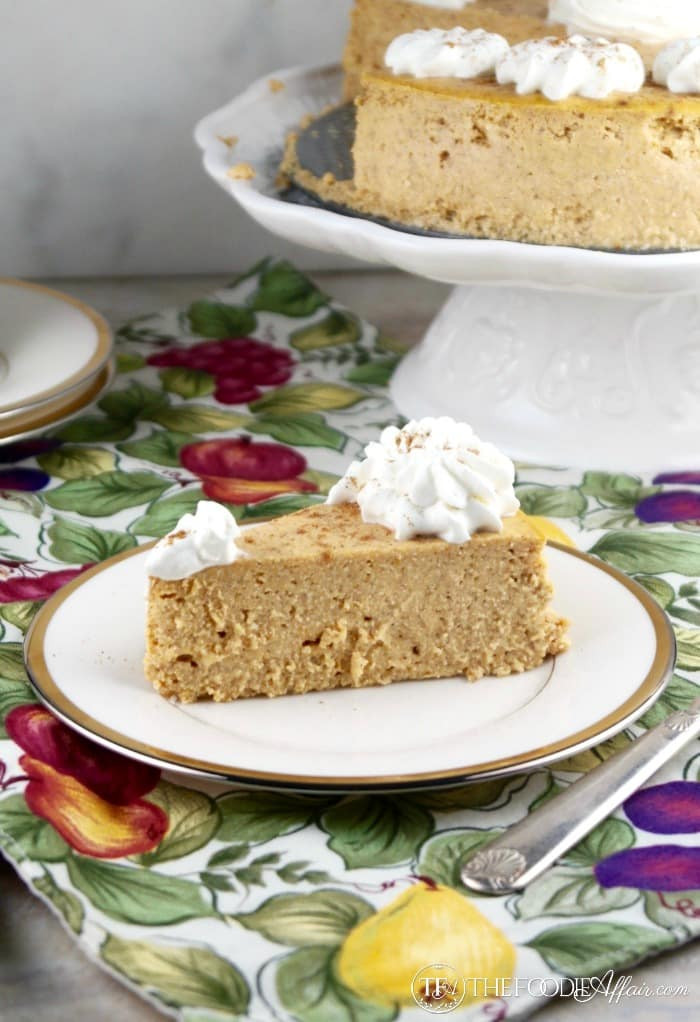 Low Carb Recipes With Ricotta Cheese  Low Carb Pumpkin Cheesecake