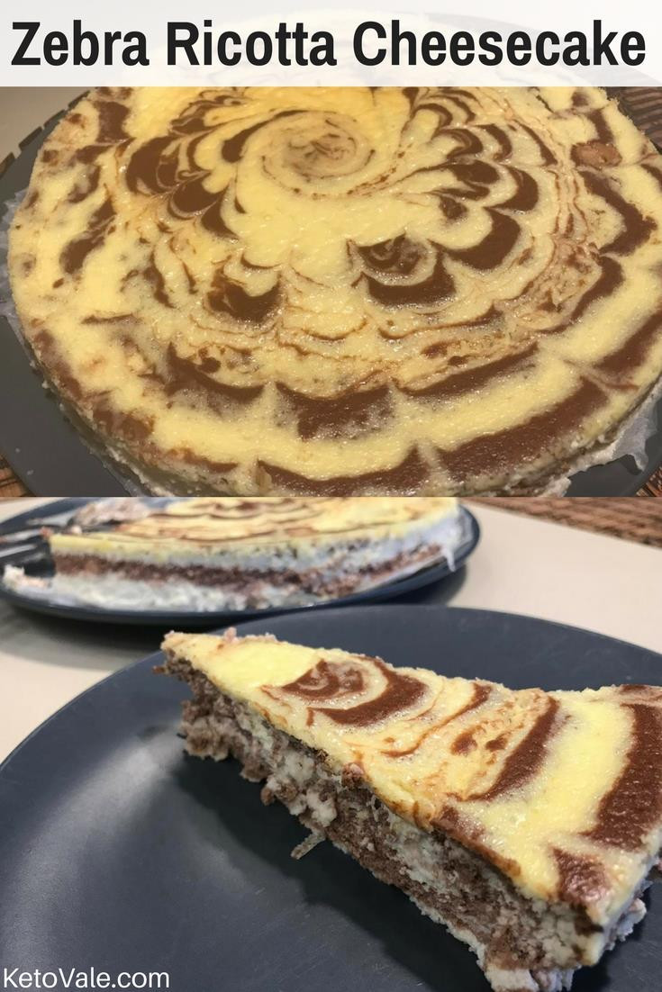 Low Carb Recipes With Ricotta Cheese  Zebra Ricotta Cheesecake Low Carb Recipe