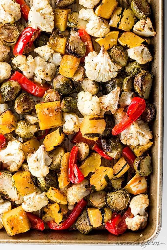 Low Carb Roasted Vegetables  Easy Truffle Roasted Low Carb Veggies Paleo Gluten free