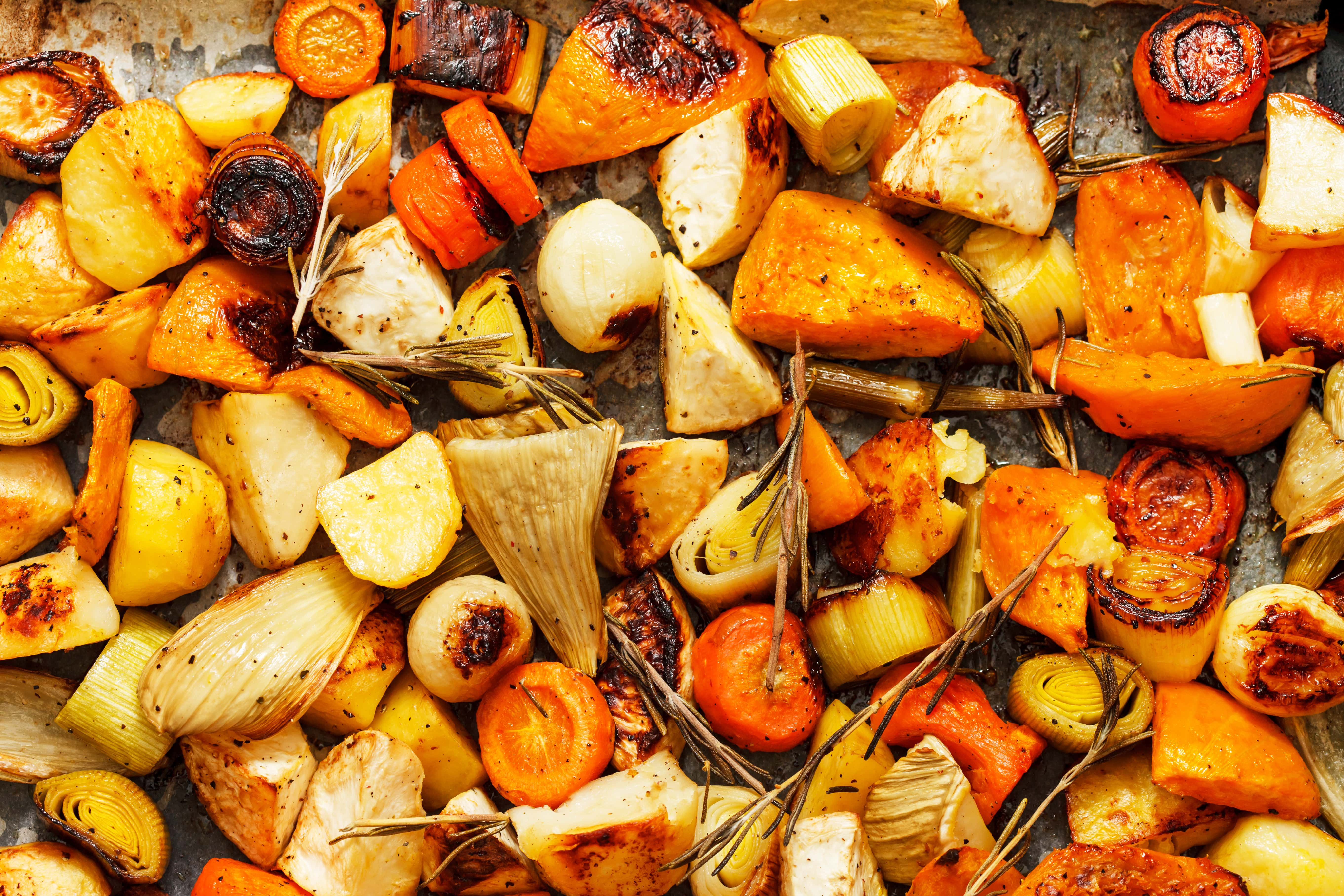 Low Carb Roasted Vegetables  Lower Carb Roasted Root Ve ables Slender Kitchen