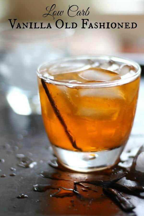 Low Carb Rum Drinks  Vanilla Old Fashioned Cocktail lowcarb ology