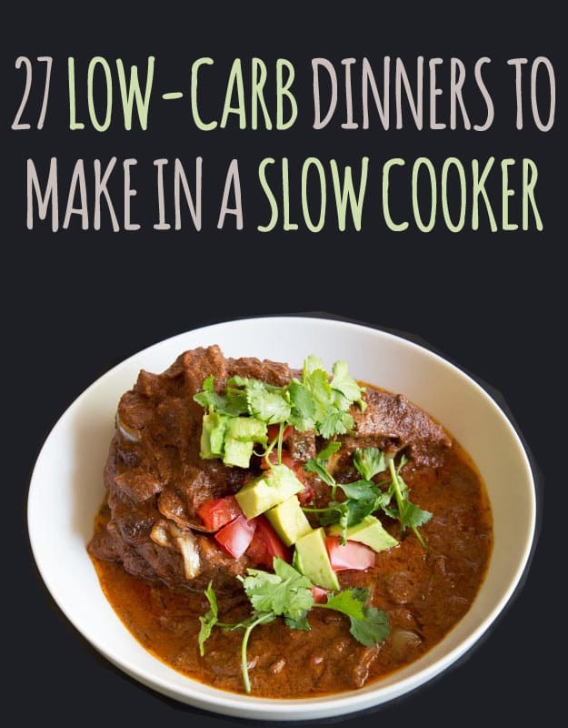 Low Carb Slow Cooker Recipes  low carb slow cooker chicken stew