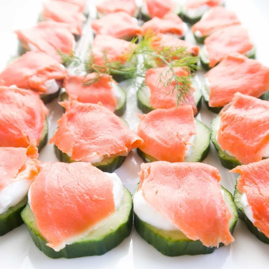Low Carb Smoked Salmon Recipes  Smoked Salmon Platter Cucumber Bites Low Carb Gluten free