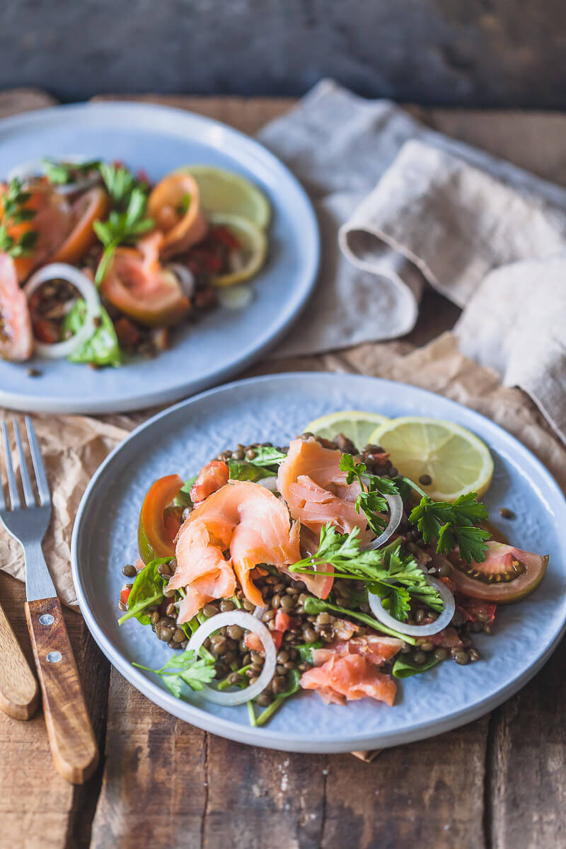 Low Carb Smoked Salmon Recipes  Low Carb Smoked Salmon Lentil Salad Vibrant Plate