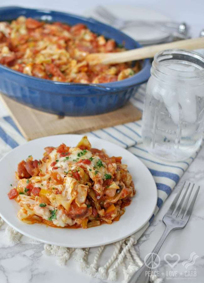 Low Carb Smoked Sausage Recipes  Cheesy Sausage and Cabbage Casserole