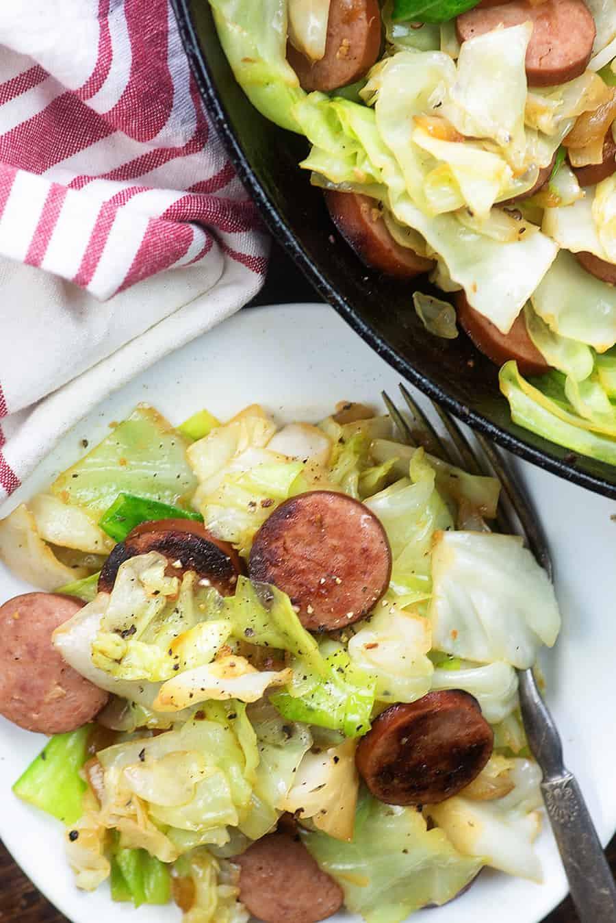 Low Carb Smoked Sausage Recipes  Smoked Sausage Fried Cabbage