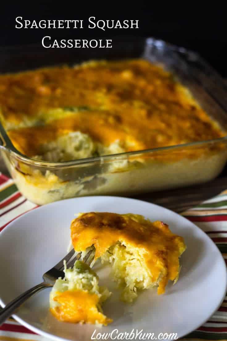 Low Carb Squash Recipes  Cheesy Broccoli Spaghetti Squash Casserole