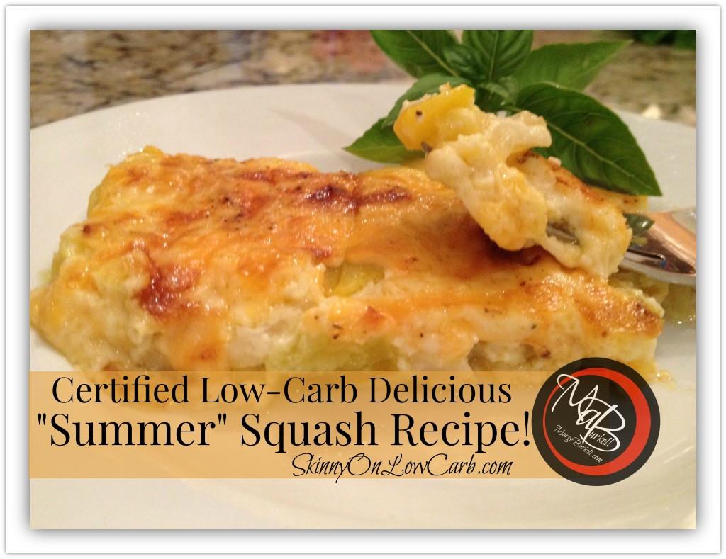 Low Carb Squash Recipes  low carb yellow squash casserole