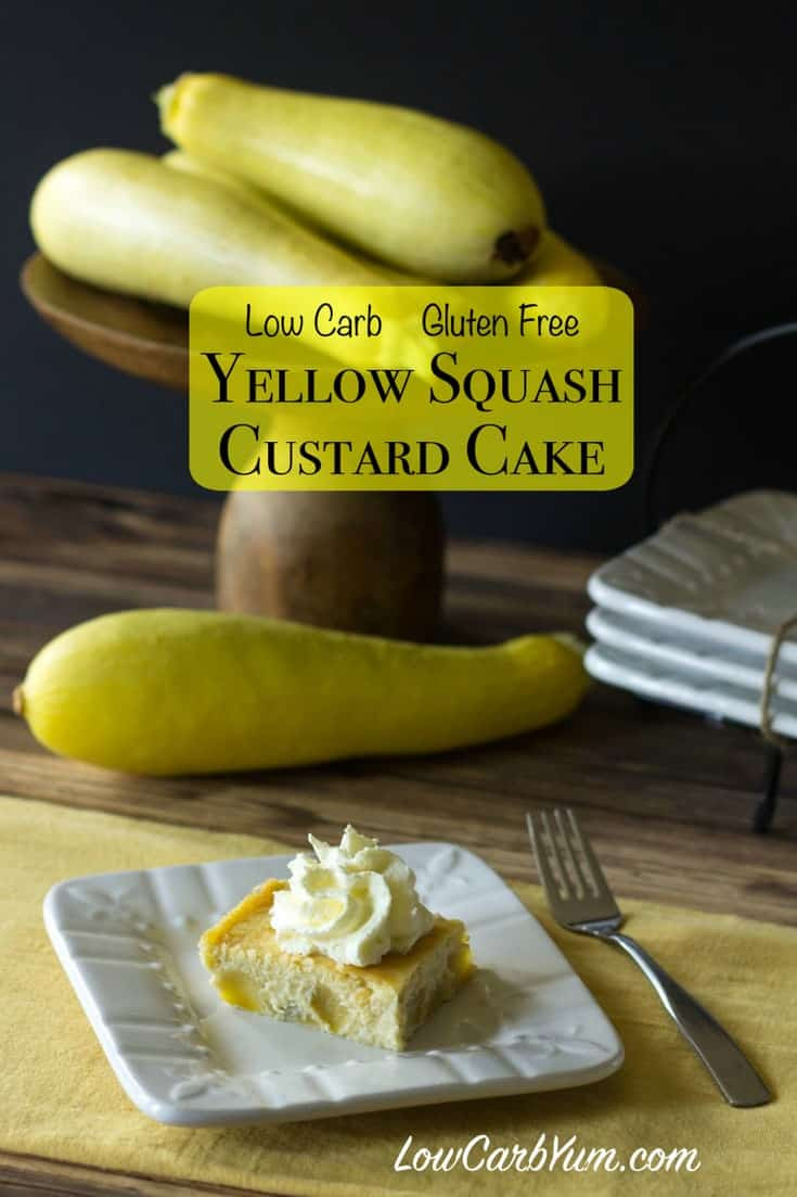 Low Carb Squash Recipes  Yellow Squash Cake Low Carb and Gluten Free