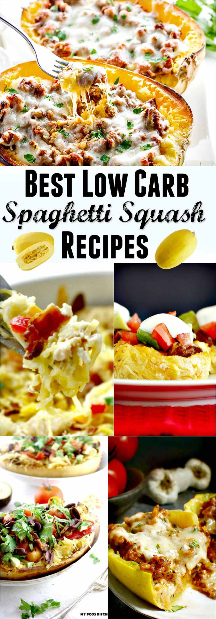 Low Carb Squash Recipes  Best Low Carb Spaghetti Squash Recipe Collection