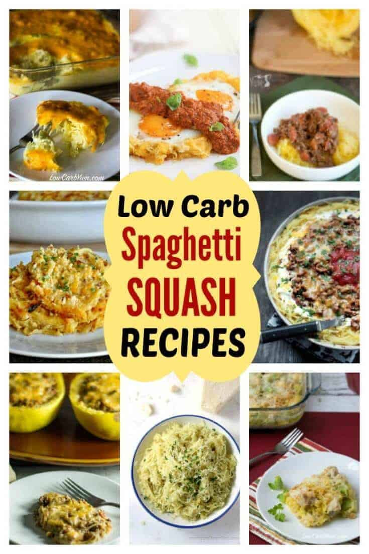 Low Carb Squash Recipes  low carb spaghetti squash recipes cover