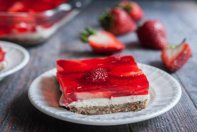 Low Carb Strawberry Dessert  Low Carb Strawberry Pretzel less Dessert My Life