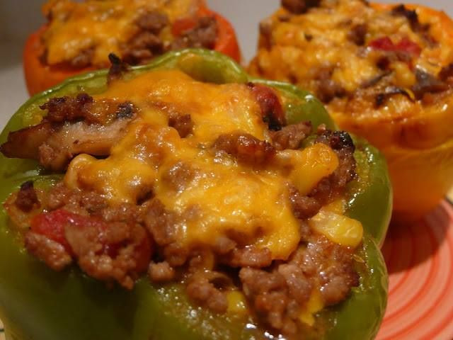 Low Carb Stuffed Bell Peppers  1000 images about low carb on Pinterest