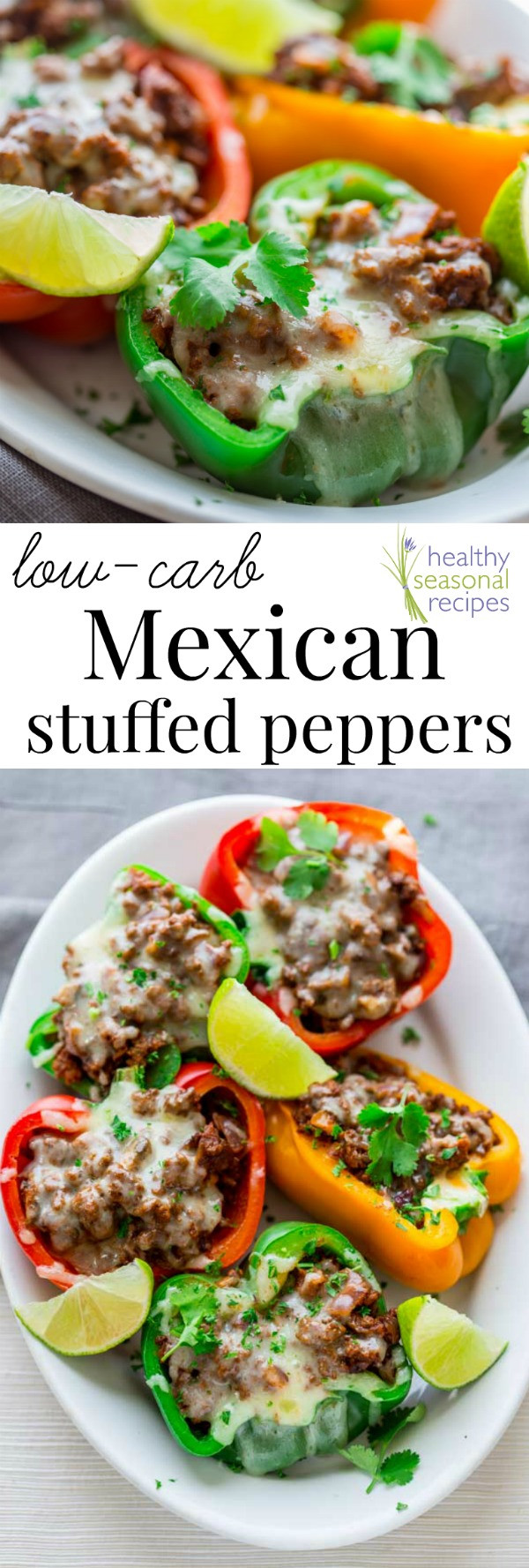 Low Carb Stuffed Bell Peppers  low carb mexican stuffed peppers Healthy Seasonal Recipes