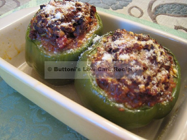 Low Carb Stuffed Bell Peppers  Greek Stuffed Peppers