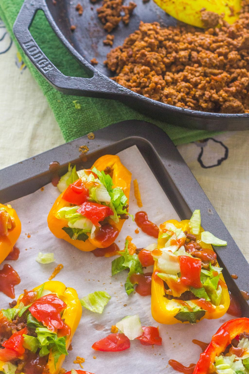 Low Carb Stuffed Bell Peppers  Low Carb Taco Stuffed Sweet Bell Peppers
