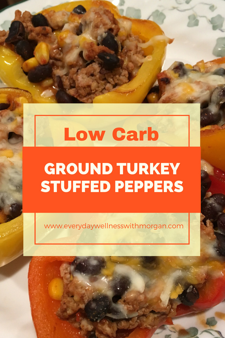 Low Carb Stuffed Peppers With Ground Turkey  Low Carb Ground Turkey Stuffed Peppers Everyday Wellness