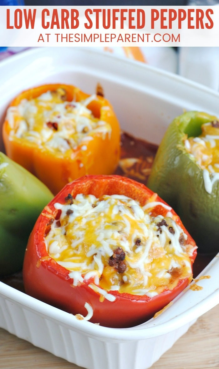 Low Carb Stuffed Peppers With Ground Turkey  Low Carb Stuffed Peppers without Rice Make Healthy Easy