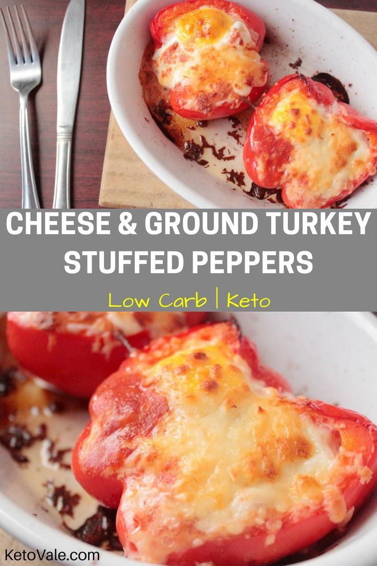Low Carb Stuffed Peppers With Ground Turkey  Ground Turkey Stuffed Peppers Low Carb Recipe