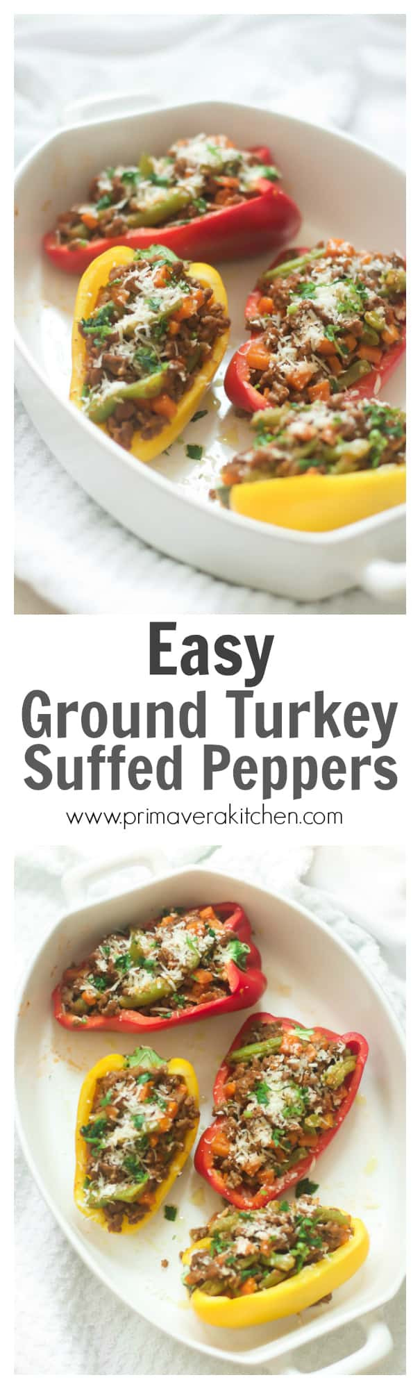 Low Carb Stuffed Peppers With Ground Turkey  Easy Ground Turkey Stuffed Peppers Primavera Kitchen