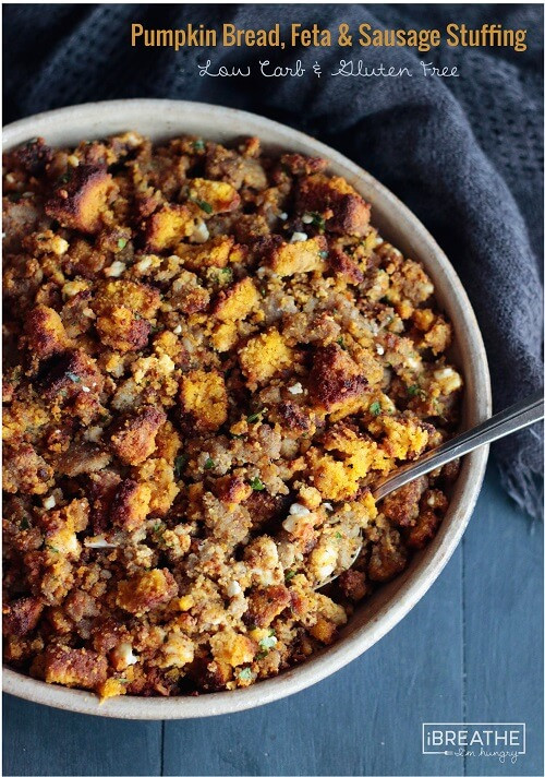 Low Carb Stuffing Recipes  Low Carb Pumpkin Bread Sausage & Feta Stuffing IBIH