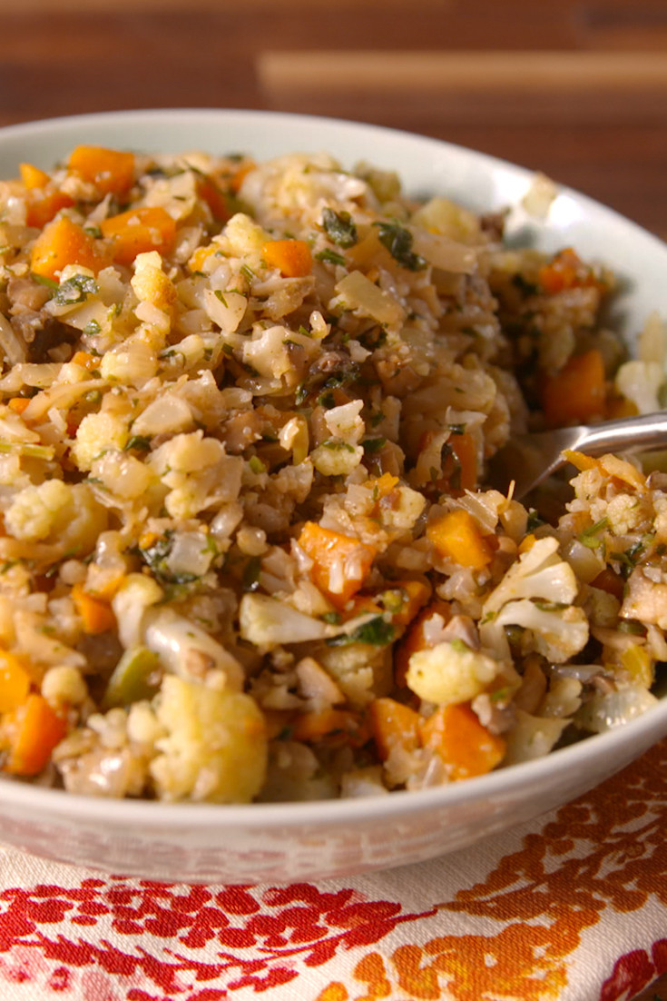 Low Carb Stuffing Recipes  Best Cauliflower Stuffing How to Make Cauliflower Stuffing