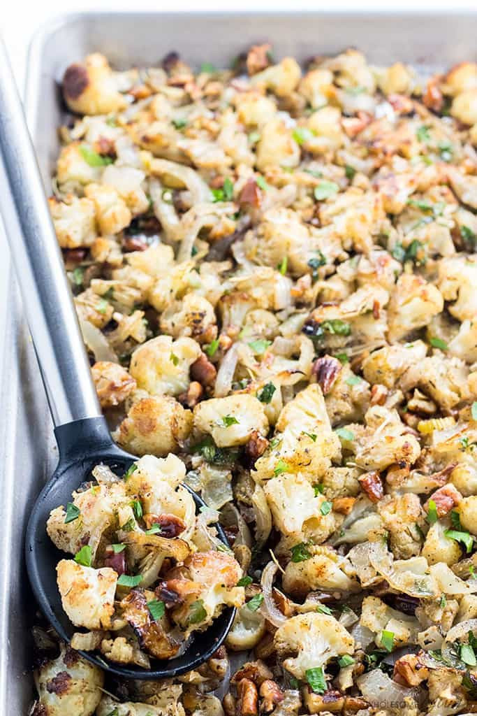 Low Carb Stuffing Recipes  Low Carb Paleo Cauliflower Stuffing Recipe for Thanksgiving