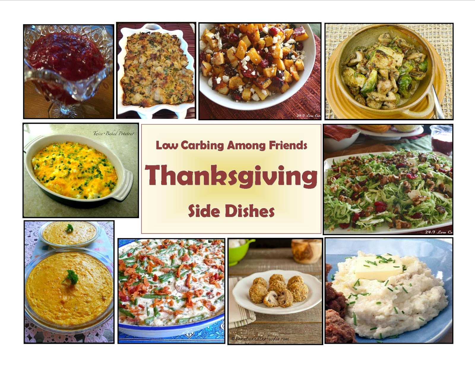 Low Carb Thanksgiving Side Dishes  24 7 Low Carb Diner Thanksgiving Sides Round Up