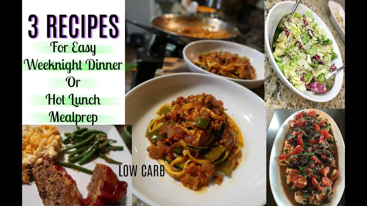 Low Carb Tv Dinners  3 Easy Dinner & Meal Prep Recipes