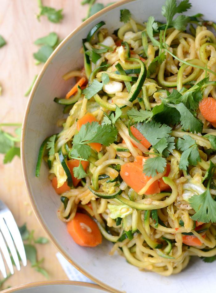 Low Carb Vegan Recipes  Zucchini Noodle Low Carb Vegan Chow Mein Quick & Easy
