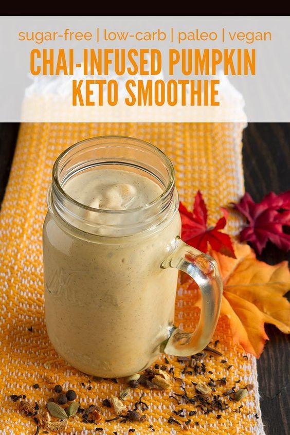 Low Carb Vegan Smoothies  Chai Infused Pumpkin Keto Smoothie low carb keto vegan