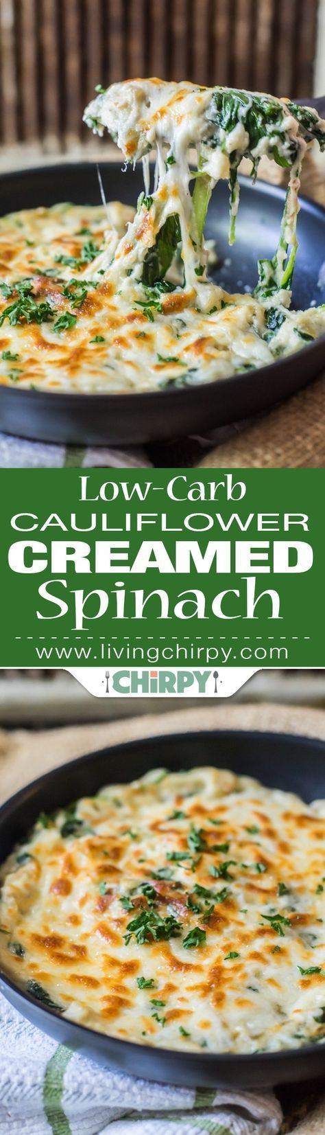 Low Carb Vegetable Side Dishes  Low Carb Cauliflower Creamed Spinach Recipe