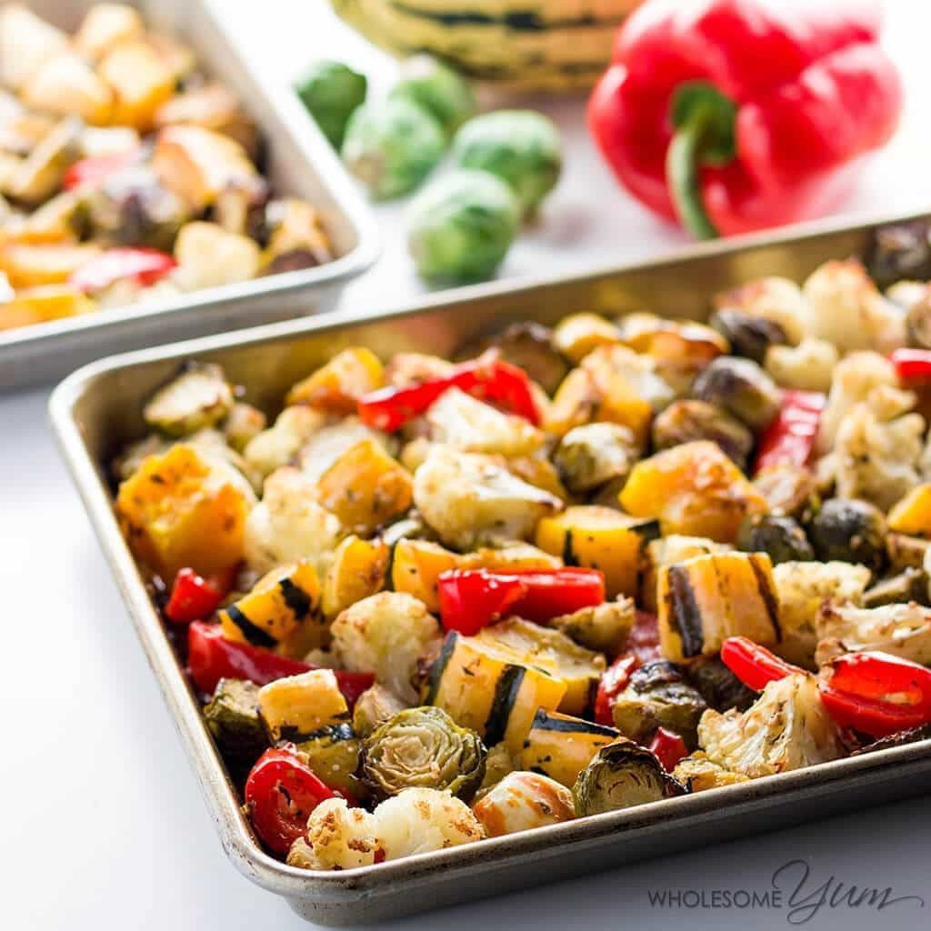 Low Carb Vegetables Recipes  Easy Truffle Roasted Low Carb Veggies Paleo Gluten free