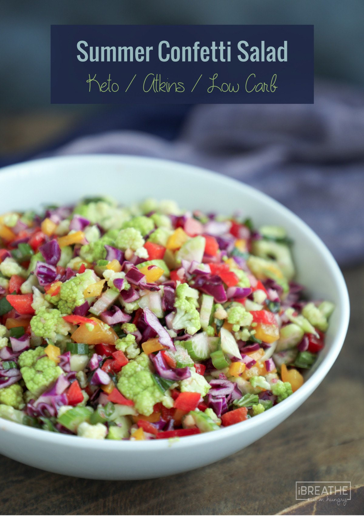 Low Carb Vegetables Recipes  Summer Confetti Salad Low Carb and Gluten Free