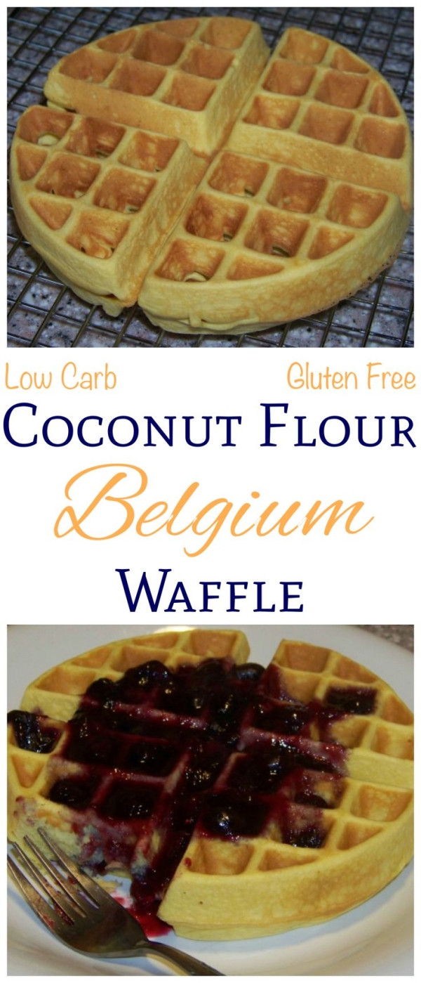 Low Carb Waffles Recipe  These delicious low carb coconut flour Belgian waffles are