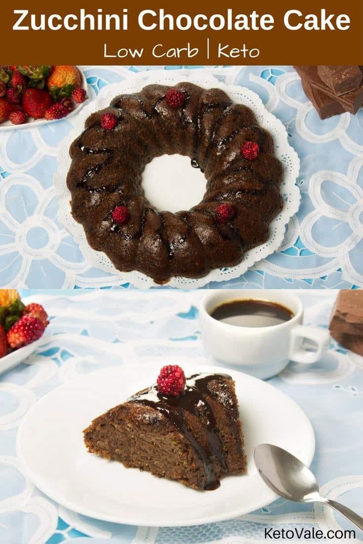 Low Carb Zucchini Cake  Keto Zucchini Chocolate Cake Low Carb Sugar Free Recipe