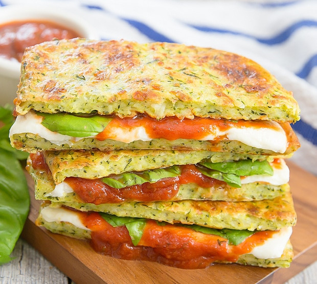 Low Carb Zucchini Cheese Bread  Zucchini Crusted Pizza Grilled Cheese Sandwiches Kirbie
