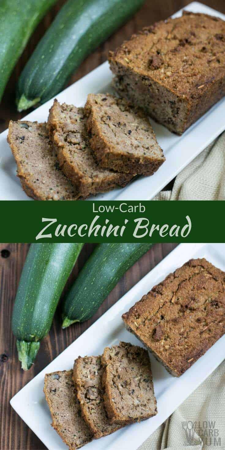 Low Carb Zucchini Cheese Bread  Low Carb Zucchini Bread Gluten Free