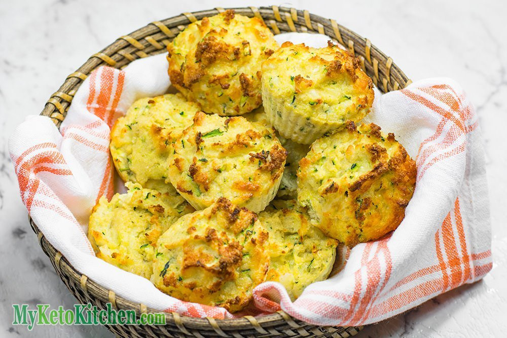 Low Carb Zucchini Cheese Bread  How to Make Low Carb Cheddar Cheese & Zucchini Muffins