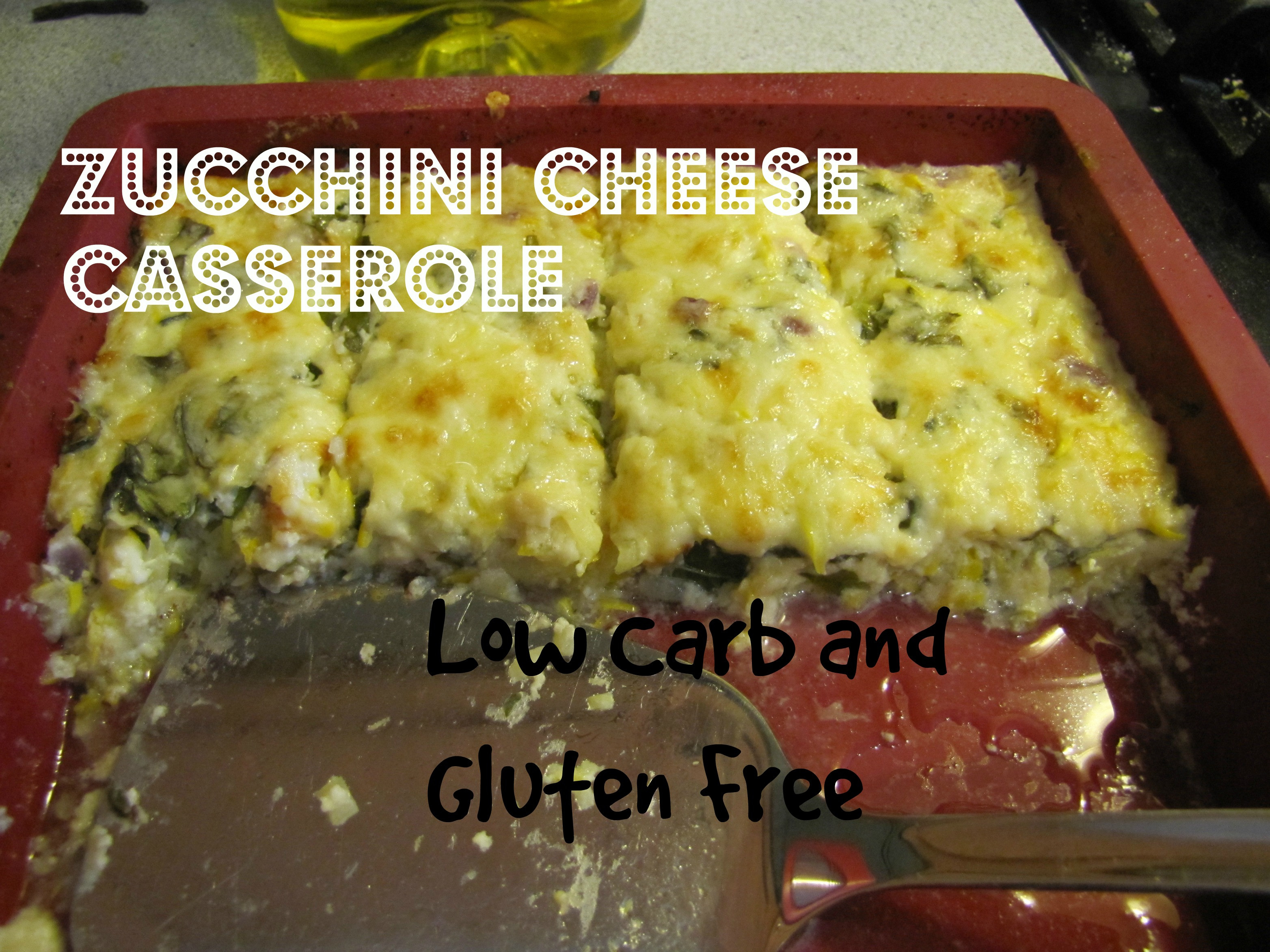 Low Carb Zucchini Cheese Bread  Zucchini Cheese Casserole Low Carb and Gluten Free