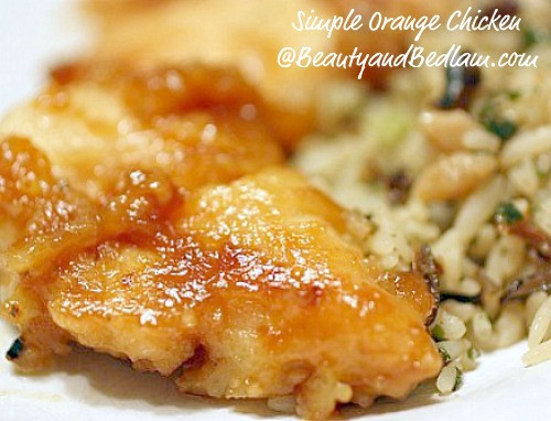 Low Cholesterol Chicken Recipes  Orange Chicken Recipe Chinese Orange Chicken Recipe Low