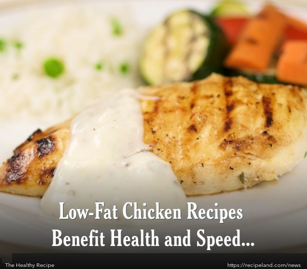Low Cholesterol Chicken Recipes  Low Fat Chicken Recipes Benefit Health and Speed Weight Loss