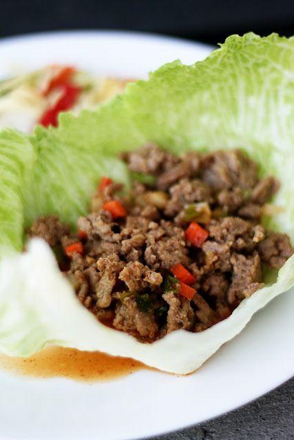 Low Cholesterol Diabetic Recipes  Asian Turkey Lettuce Wraps low fat low carb Naughty